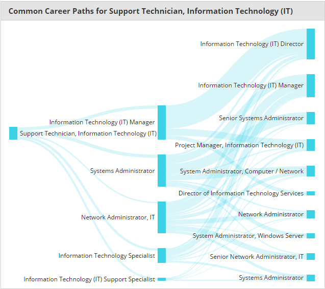 Typical Industry Career Path for IT Computer Support Specialist