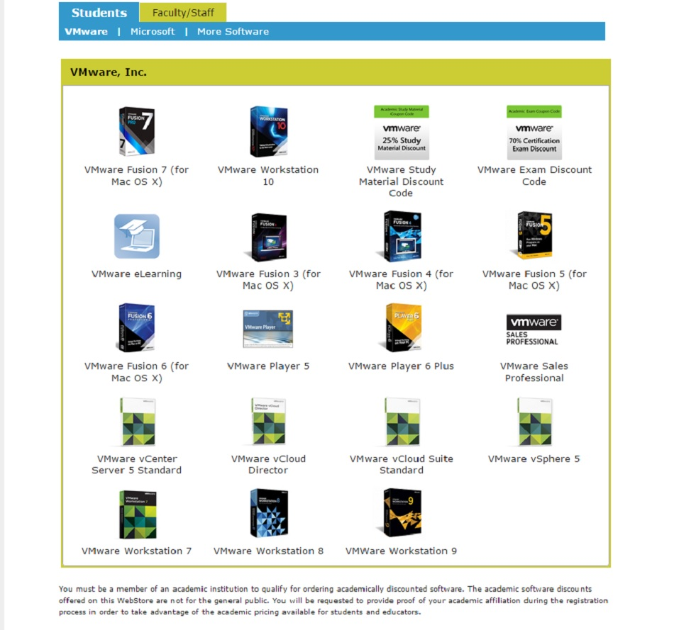 vmware fusion for mac student discount