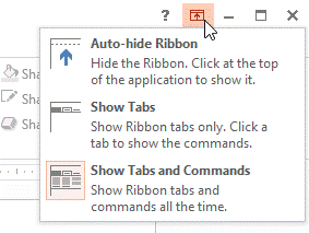 how to show drop down arrow in powerpoint