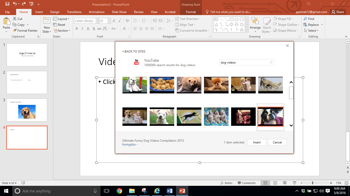 Your Video Will Now Be Added To Your Slide If You Would Like To Resize The Youtube  Videos Currently Not Working In Powerpoint