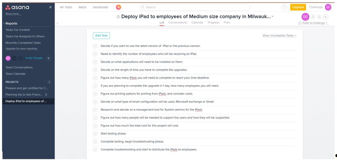 Deploying iPads to employees of medium size company in