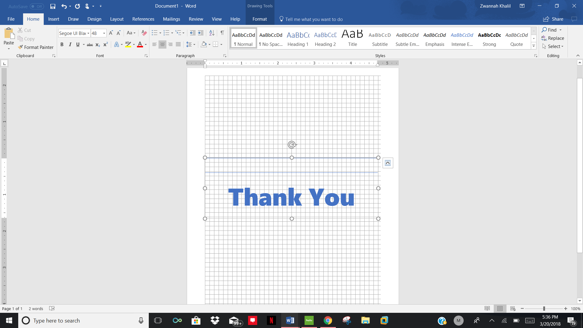 How To Create Thank You Card Using Microsoft Word Templates Matc
