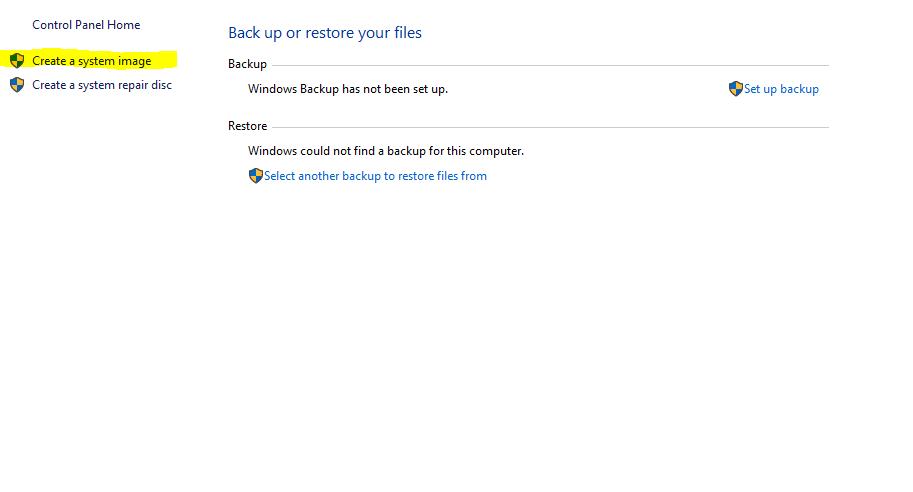 how to make full backup windows 10