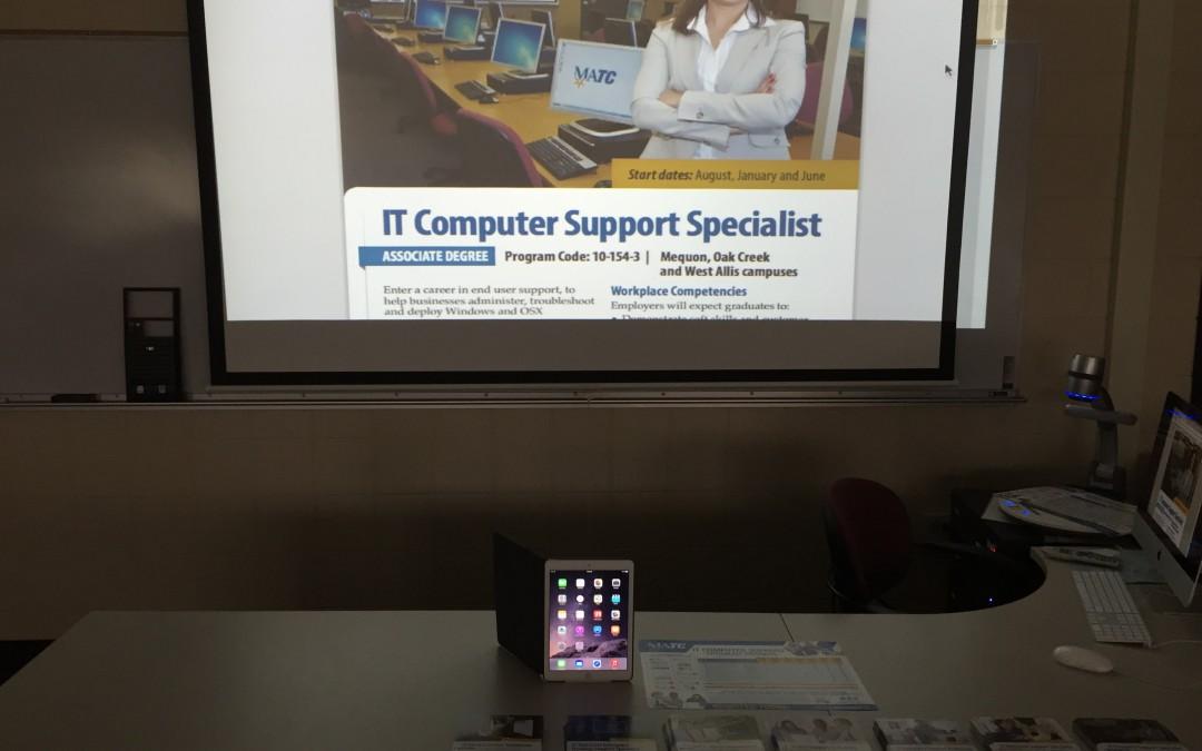 New IT Computer Support Apple OSX iMac Lab at MATC Oak Creek Campus